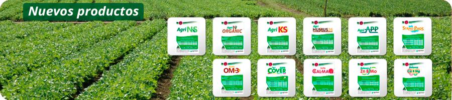 Fertilizantes líquidos nuevos productos de Agrichem en Mexico.