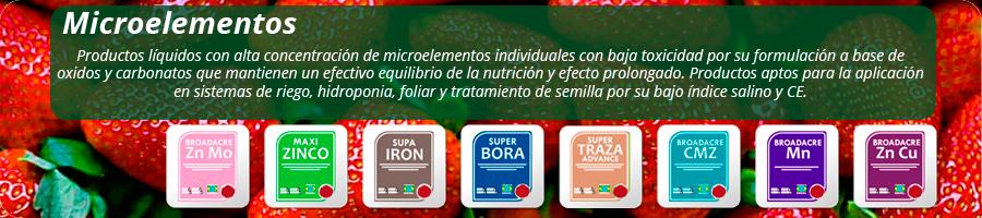 Productos aptos para la aplicación en sistemas de riego, hidroponia, foliar y tratamiento de semilla por su bajo índice salino y CE