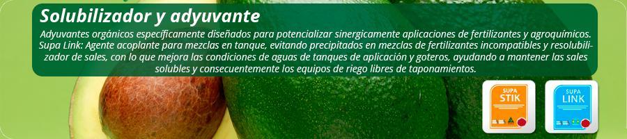Adyuvantes orgánicos diseñados para potencializar sinérgicamente aplicaciones de fertilizantes y agroquímicos.